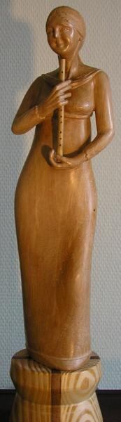 F16 la virtuose poirier h 40 cm 50 avec socle