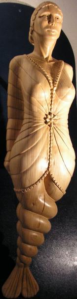 La voie de l etoile figure de proue merisier 95 cmx